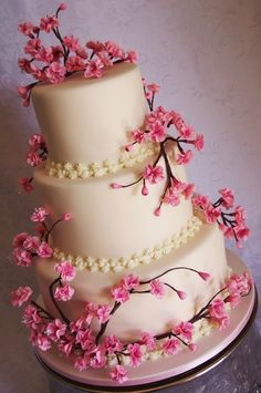 japanese cherry blossom wedding cakes | Cherry Blossom Wedding Cake.  Another beautiful option.