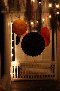 paper lanterns - cute porch decorations