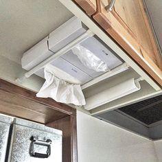 RV under cabinet storage tissues paper towels