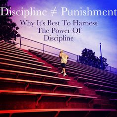 When you hear the word discipline what do you think about? Most people think about the times they were grounded, put on time out or spanked (good ole butt whippin'). Discipline has been placed under a bad light over the years. Due to upbringings and strict schooling, the word has been conditioned to have a negative association within our minds. Anytime someone mentions the idea of us needing to be disciplined, we become mildly defensive because we associate it with punishment. #LifeLessons