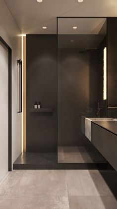 Standard small studio on Behance Bathroom Sink Design, Bathroom Design Luxury, Bathroom Styling, Modern Bedroom Design, Modern Interior Design, Modern Bathroom, Bad Inspiration, Bathroom Inspiration, Home Room Design