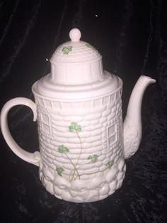 Belleek Irish Fine China Castle Tea Pot Teapot w/ Lid SHAMROCK  Design 11th Mark in Pottery & Glass, Pottery & China, China & Dinnerware, Belleek | eBay