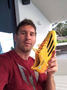 With new boots by adidas. #messi #leomessi #soccer #futbol