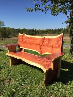Cedar Bench by MidhurstFarms on Etsy