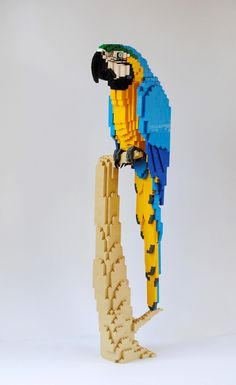 German artist Felix Jaensch has an uncanny ability to translate the ruffle of parrot feathers or the lumpy fur of orangutans into lifelike LEGO sculptures. He shares many of his original designs on Flickr and a few pieces including the red fox are available is DIY kits through MOC Nation. He&#03