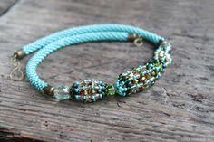 Beadwork necklace beaded necklace Bead Crochet by LenaSinelnikArt