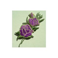 PT47 Embroidery Patch Purple Rose Flowers Applique 2pcs : Angeltrim... ❤ liked on Polyvore featuring jewelry, belly dance jewelry, bead charms, beaded jewelry, macrame jewelry and rose jewellery