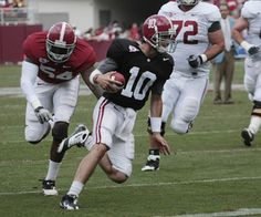 Alabama Football Fall Scrimmage: AJ McCarron Throws For 2 Touchdowns In Rainy Conditions