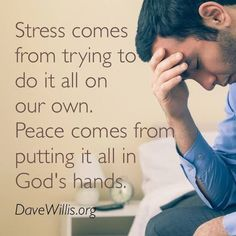 "God is bigger than whatever is stressing you out! ""Cast all your worries on Him because He cares for you."" 1 Peter 5:7"