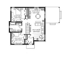 36x36 two bedroom house sq ft mostly small for Moderate house plans