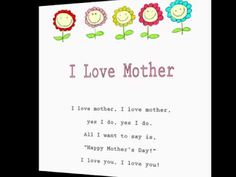 Mother's Day Song Just the way you are | Pre k | Pinterest | Songs ...