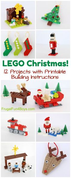 Christmas Projects to Build with LEGO®️️ Bricks – Printable Building Guide
