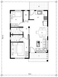 Proiect casa mica pe un singur nivel