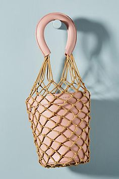 In love with this fun basket bag from Anthropologie! Basket Bag, Tote Bag, Mini, Anthropologie, Bags, Shopping, Purses, Anthropology, Carry Bag