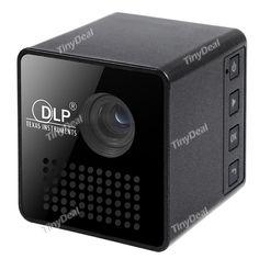 P1 DLP LED Projector 30 Lumens 640 x 360 Pixels 1080P Sync Screen Home Theater Ultra Mini Micro Projector