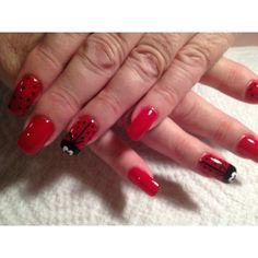 Fun ladybug nails