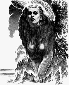Sphinx by Virgil Finlay