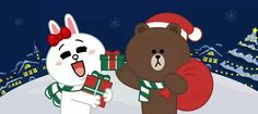 Merry Christmas! Christmas And New Year, Merry Christmas, Profile Wallpaper, Cony Brown, Chibi Cat, Bunny And Bear, Halloween Illustration, Halloween Wallpaper, Good Morning Love