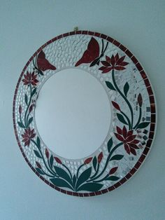Home Mirror Mosaic, Mosaic Art, Mosaic Glass, Glass Art, Diy Craft Projects, Diy Crafts, Mosaic Madness, Mosaic Crafts, Mirror Work