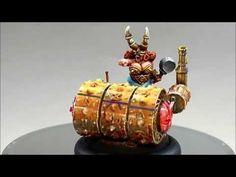 RN Estudio Dwarf Deathroller apisonadora enana Fantasy Football Blood bowl - YouTube
