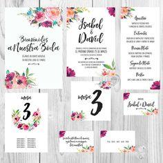 invitaciones de boda para imprimir Diy Wedding Stationery, Stationery Paper, Wedding Invitation Design, Ideas Para Fiestas, Planner, Corsage, Save The Date, Tea Party, Our Wedding