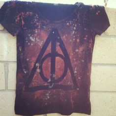 My own Harry Potter t-shirt I made! I used bleach in a spray bottle, tape, and glitter.