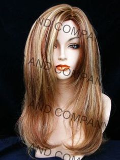 New Long Silky Straight Strawberry Candy Blonde & Auburn Wig JSSM RS29 in Health & Beauty, Hair Care & Styling, Hair Extensions & Wigs | eBay