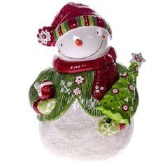 Holiday Snowman Cookie Jar http://shop.crackerbarrel.com/Holiday-Snowman-Cookie-Jar/dp/B00F8L84G8