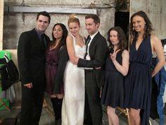 Being Human SyFy - @MeaghanRath @Sammy Huntington @SamWitwer @Kristen Marie @Deanna Russo wedding day - twitpic via @EdwinaVoda
