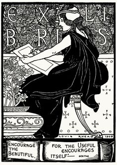From A collection of book plate designs, by Louis Rhead, Boston, 1907. Louis John Rhead. (1857–1926). California Digital Library > A collection of book plate designs