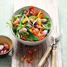 Rezept von Manuel Weyer: Bunter Bohnensalat mit gegrillter Paprika