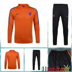 Pays-Bas Survetement Football 2016 17 Homme Orange