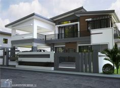 New House Exterior Design Master Suite Ideas Flat Roof House, Screen House, Facade House, 2 Storey House Design, House Front Design, Modern House Design, Philippines House Design, Architectural House Plans, Architectural Services