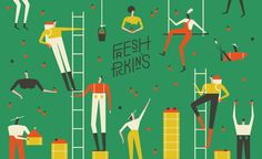 """Check out this @Behance project: """"FRESH PICKIN'S"""" https://www.behance.net/gallery/49622781/FRESH-PICKINS"""