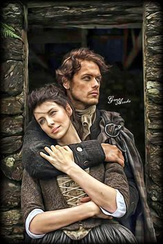 Jamie and Claire @samheughan @caitrionambalfe #Outlander