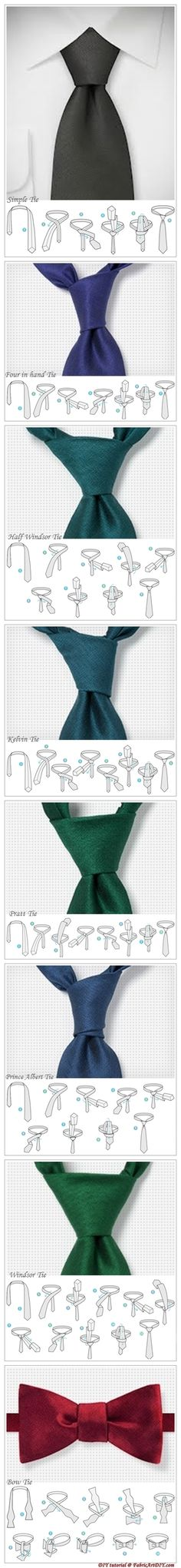 Classic tie knot instructions