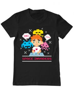 Tricou Tricou Spece Invader Mens Tops, T Shirt, Design, Fashion, Supreme T Shirt, Moda, Tee Shirt, Fashion Styles