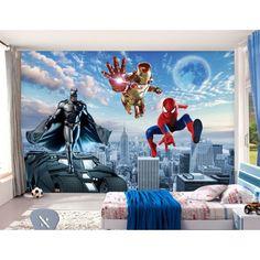 D coration murale papier peint 3d personnalis tapisserie - Tapisserie chambre d enfant ...