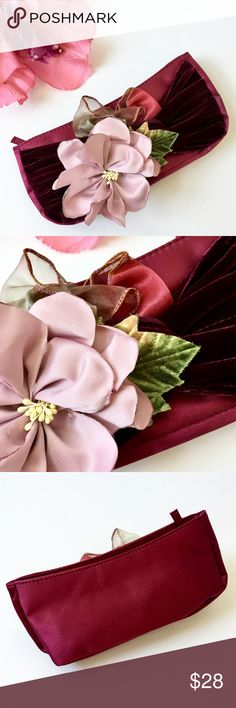 Evening Bag, Floral, Ribbon & Velvet Embellished Specific details and measurements to be added very soon. Please feel free to ask questions.😊 Bags Clutches & Wristlets