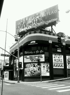 The Whisky a Go Go is a nightclub in West Hollywood, California, on the Sunset Strip. Arguably, the rock and roll scene in Los Angeles was born when the Whisky started operation. From rock to punk to heavy metal, the club stood at the forefront of many musical trends.