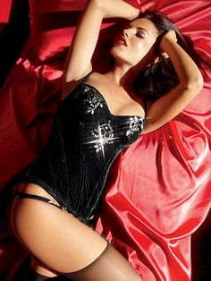 I love this Velvet with Stones Corset from Frederick's of Hollywood!