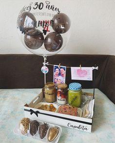 Birthday Gifts For Boyfriend Diy, Bff Birthday Gift, Birthday Box, Birthday Balloon Decorations, Birthday Balloons, Birthday Morning, Happy Birthday Beautiful, Balloon Gift, Diy Crafts For Gifts