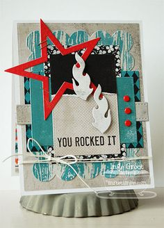 Patterned Paper : March MFTeasers, Document It - Rock On; Journal It - Playlist