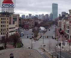 Boston-ghost town- mandatory lockdown for bombing suspect search 4-19-2013