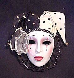 Clay Art About Face Polka Dot Jester Mask