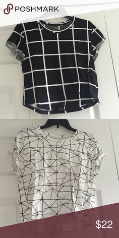 BUNDLE. Two crop tops! Black and white crop tops. Both only worn twice! The price listed below is how much each shirt cost. PacSun Tops Crop Tops