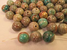 Close Out Beads Turquoise Jasper 10mm Round 56 pcs  by FLcowgirls, $2.85