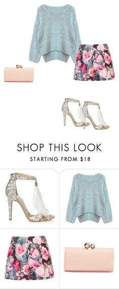 """LOOK"" by gabizadesouza-1 ❤ liked on Polyvore featuring Jimmy Choo, Chicnova Fashion, Paper Dolls and Ted Baker"