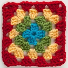 Rainbow Reduction Granny Square | AllFreeCrochetAfghanPatterns.com