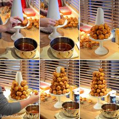~ Croquembouche in 2019 Gourmet Desserts, Christmas Desserts, Just Desserts, Delicious Desserts, Choux Pastry, Pastry Cake, Croquembouche Recipe, Tasty Pastry, Cake Recipes